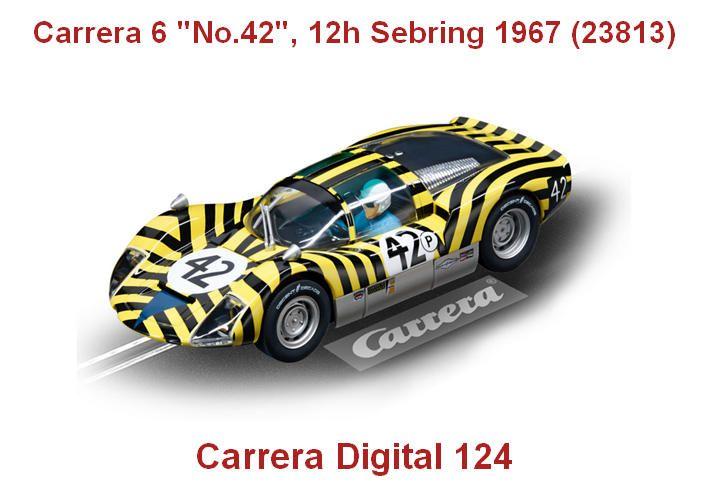 """Porsche Carrera 6 """"No.42"""", 12h Sebring 1967 (23813) - Carrera Digital 124 - Carrera 6 """"No.42"""", 12h Sebring 1967 (23813) #slotcar porsche #carrera"""