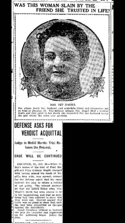 Murder of mrs Magill, Clinton Illinois