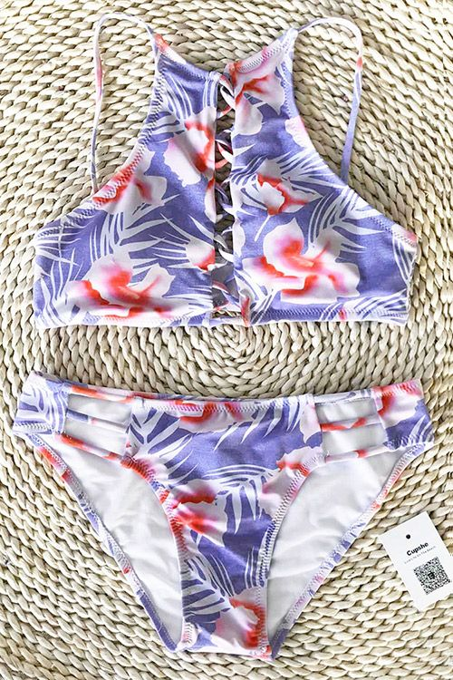 This summer is gonna be so lit! Celebrate the season with Cupshe Remember Happiness Floral Bikini Set. Faster Shipping. Shop now.