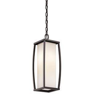 kichler lighting 49341az bowen modern outdoor hanging light kch49341az