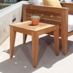 Craftsman Teak Outdoor Side Table - Westminster Teak Outdoor Furniture - 367.00