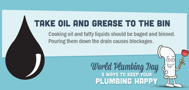 Take oil and grease to the bin #plumbing #tips #tricks #toilet #oil #grease #ideas #information #helpful #Home #DIY #information #graphic