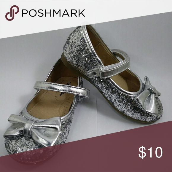 Cherokee Sparkle Flats Toddler shoes used once for 3 hrs like new Cherokee Shoes Dress Shoes