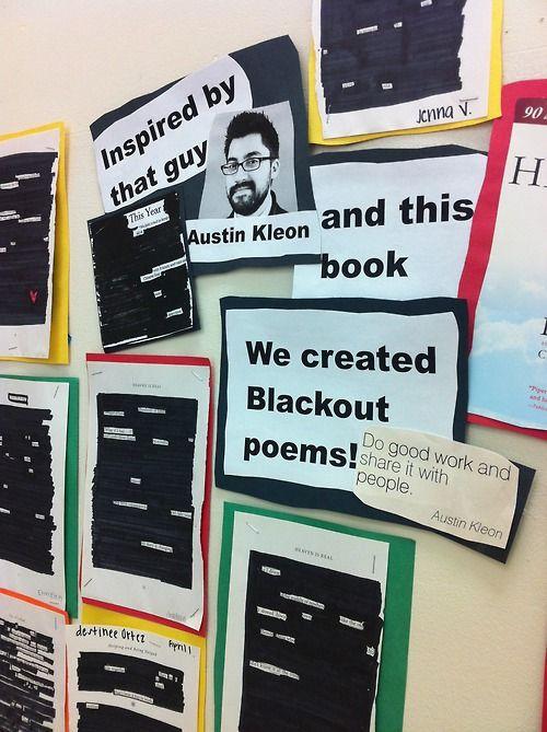 Austin Kleon blackout poetry