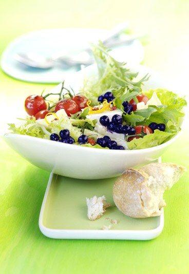 gemischter salat mit heidelbeeren fitness salate f r feinschmecker salatrezepte f r den. Black Bedroom Furniture Sets. Home Design Ideas