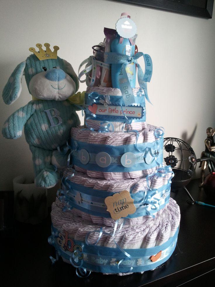 Nappy cake/ Dyper cake #nappycake #babyshower #itsaboy
