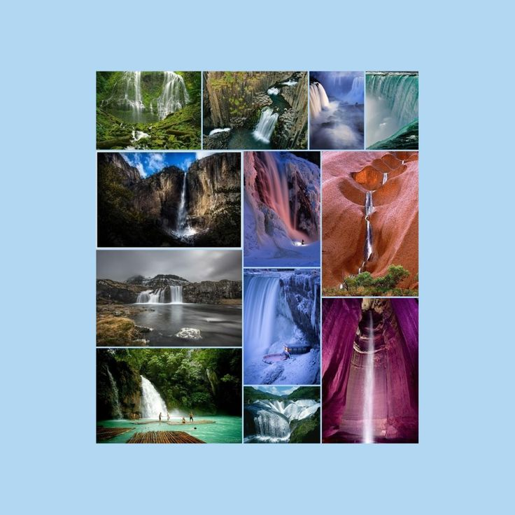 WOW!! The world's great natural wonders.  Collage.com, create collages online and share for free and order poster or canvas online.