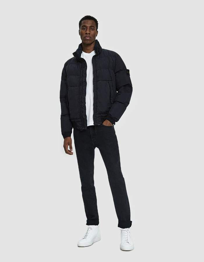 60e09d89b Stone Island Garment Dyed Crinkle Reps Real Down Jacket in Navy Blue ...