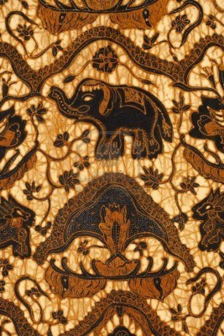 Batik design, Java, Indonesia.