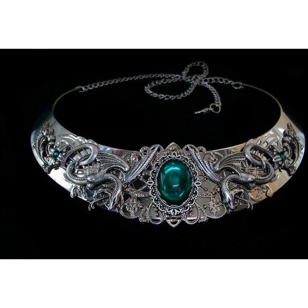 Snake Necklace Salazar Slytherin Salazar Harry Potter Severus Snape... ($93) ❤ liked on Polyvore featuring jewelry, necklaces, green silver necklace, silver jewelry, silver snake necklace, emerald jewellery and snake jewelry