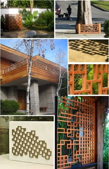 Might be fun to put something like this lattice against the concrete wall.