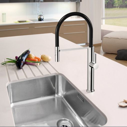 Linsol - Luca Sink Mixer with Pull Down Hose