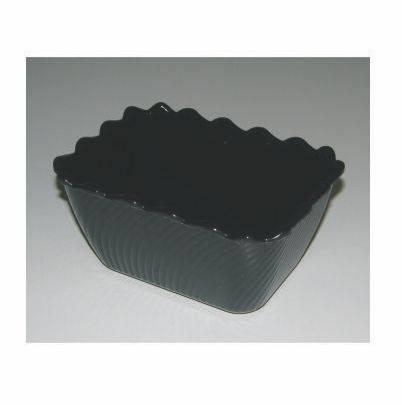 Black Scallop / Tulip Bowl - Size 0  175 x 130 x 85mm  Polar Displays & Print