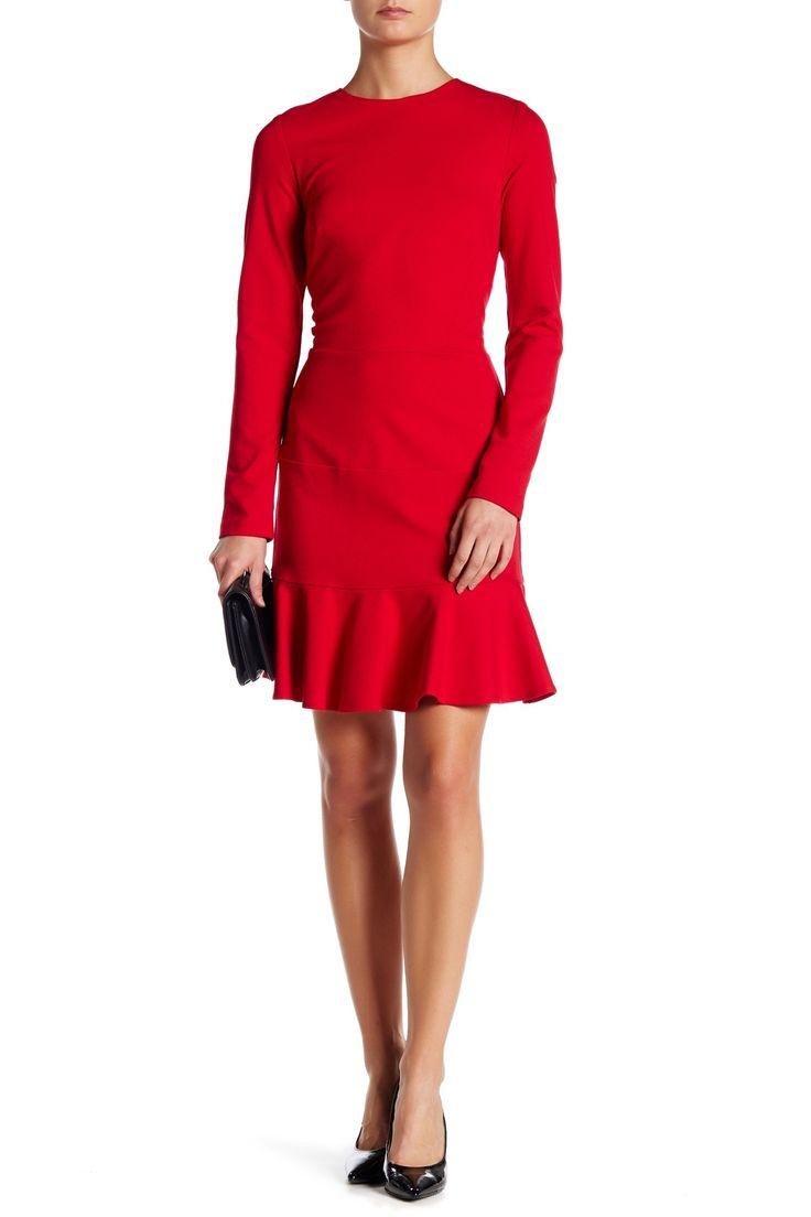 Long Sleeve Flare Dress by Nicole Miller on @nordstrom_rack
