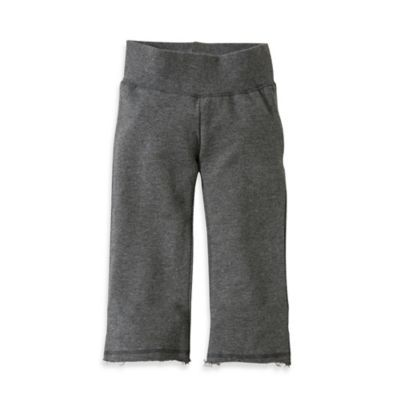 Burt's Bees Baby™ Organic Cotton Terry Yoga Pant in Charcoal - buybuyBaby.com