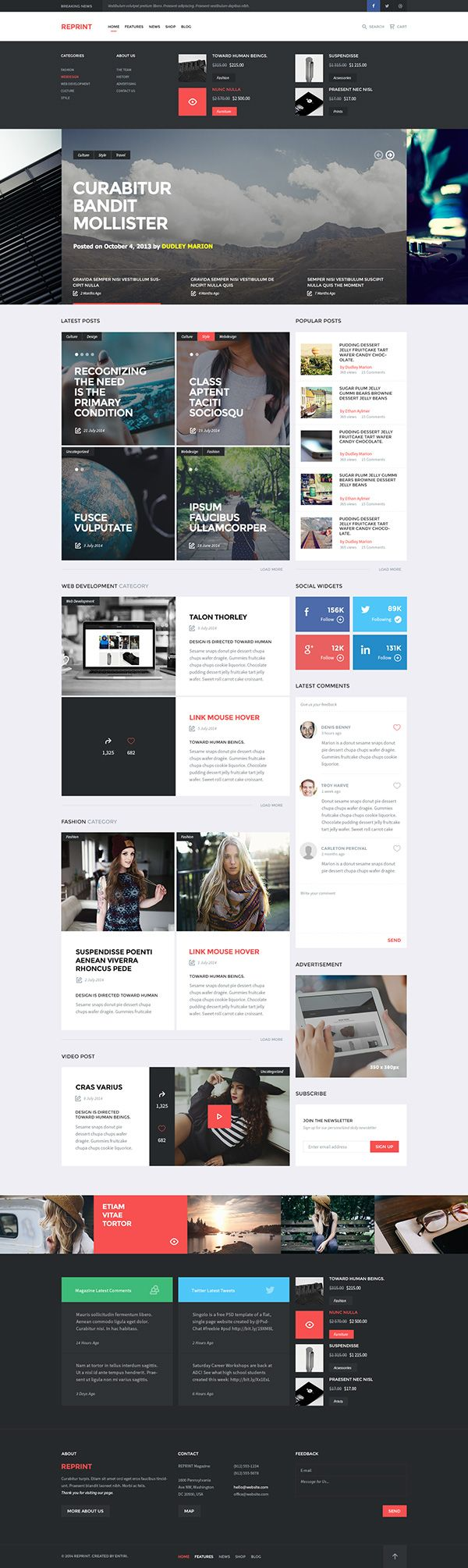 REPRINT website #ui #web #interface