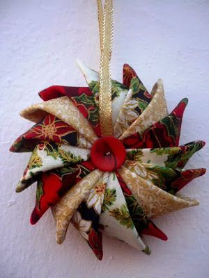 Christmas ornament prairie points