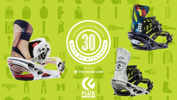 Strap in tight – you've got a chance to win one of three pairs of Flux Bindings. Enter to win today on TWSNOW.com in our 30 Days of Giveaways!