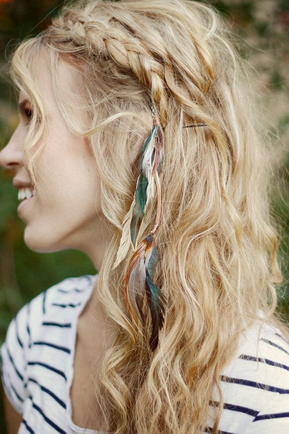 Long Feather Extension Clip: hair feathers