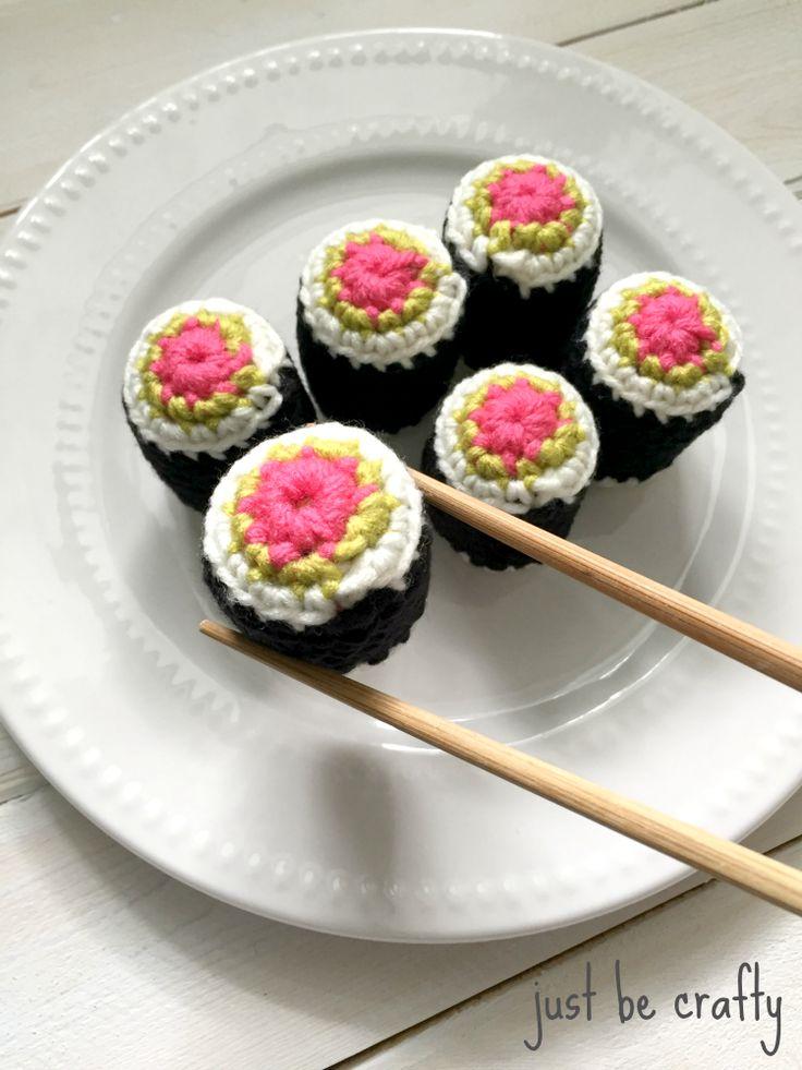 Amigurumi Food Sushi : Free Crochet Sushi Pattern! Fiber Arts and Crafts - Yarn ...