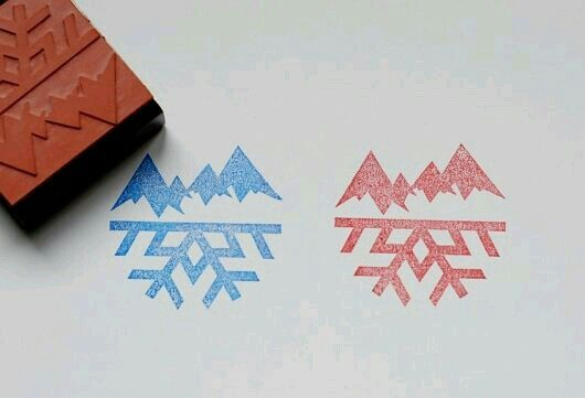 mountains + snowflake tattoo idea