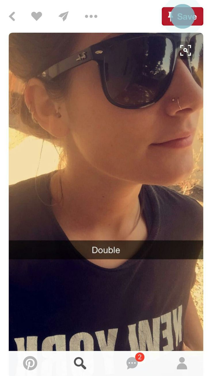 Double nose piercing                                                                                                                                                                                 More