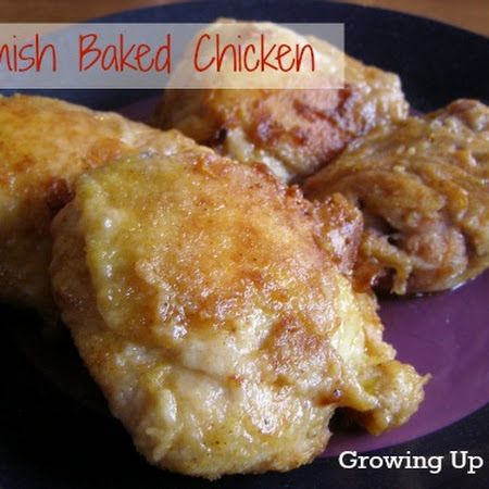 Amish Baked Chicken...I will try it with boneless skinless chicken thighs!