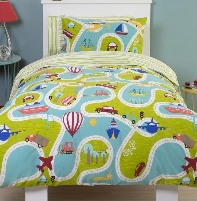 Around We Go, Kids Single Bedding Set