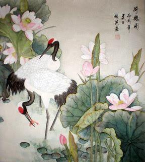 Chinese Crane Painting,69cm x 69cm,4703004-x