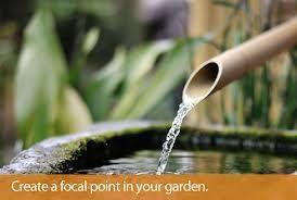 running water in the garden