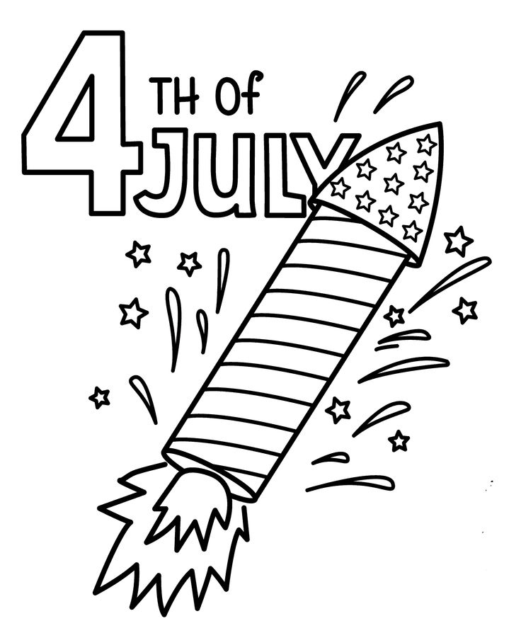 july 4 rocket coloring pages usa independence day coloring pages for kids printable free