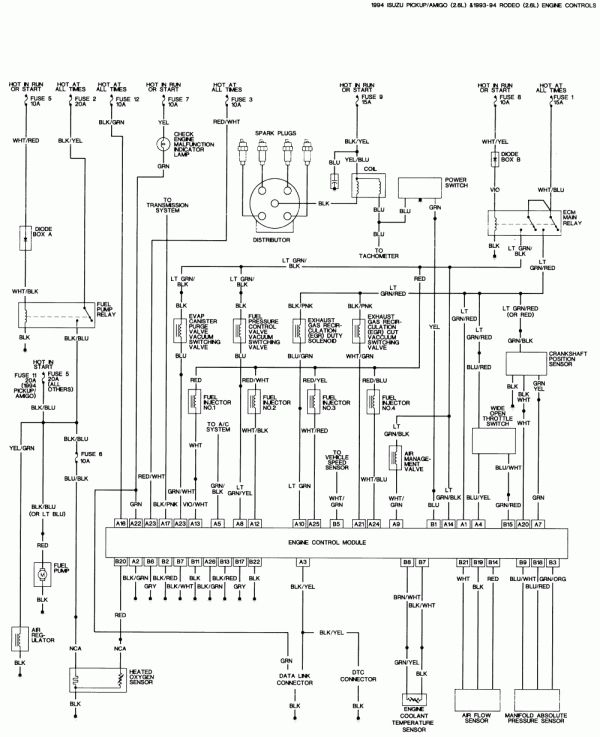 Isuzu Rodeo Wiring Schematic