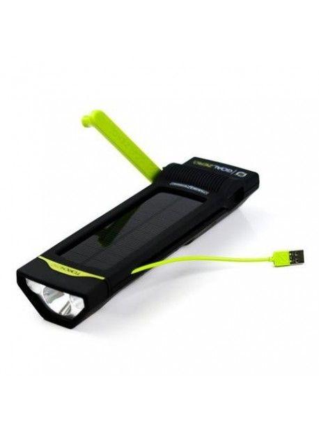 Linterna Torch 250: Linterna con panel solar incorporado y dínamo de emergencia.Permite robar la carga de la linterna para traspasarla a un celular, cámara fotográfica o dispositivo USB. Puede recargarse tanto de una fuente USB como con el panel solar que incorpora en su parte superior.Tres opciones de luminosidad, direccional, de area o luz roja de emergencia en distintos niveles de potencia.Potencial de cargaTorch 250 posee la facultad de poder recargar tus dispositivos USB.La cantidad…
