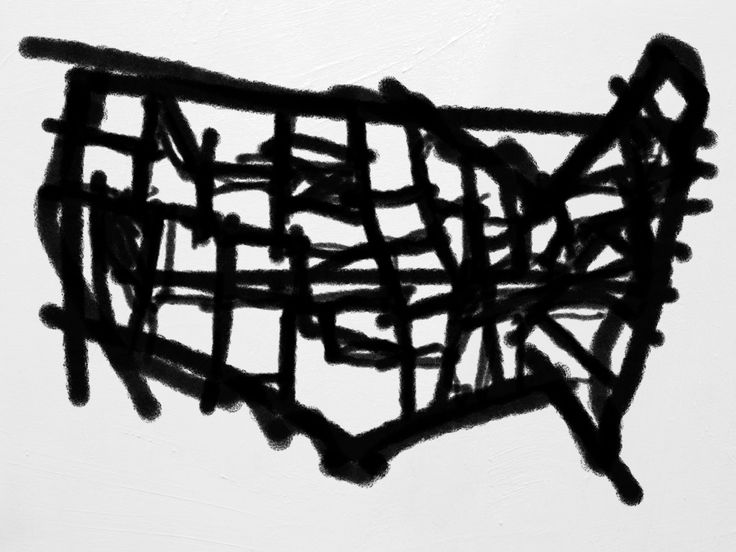 Bogus Art Map inspired by the style of Franz Kline