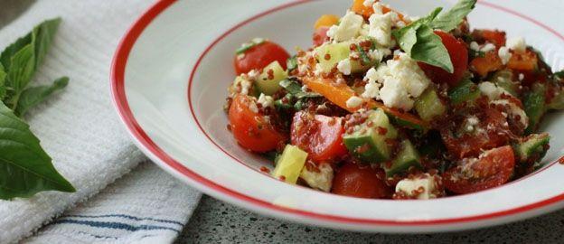 Quinoasalade op Griekse wijze ♥ Foodness - good food, top products, great health