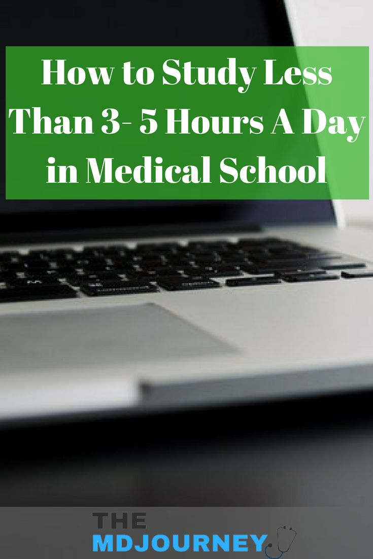 How do you study in medical school