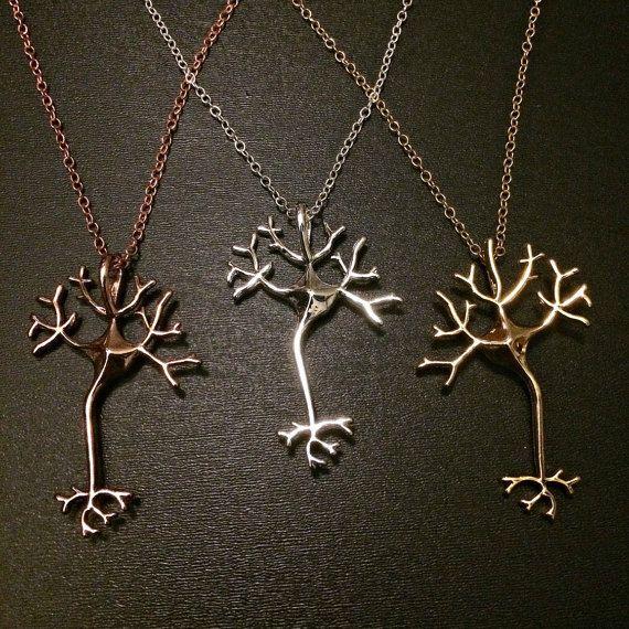 Science Jewelry Neuron Brain Nerve Necklace- Geek Jewelry Nerd Anatomy Jewelry Science Art Gift for Doctor Neurologist Nurse EMT