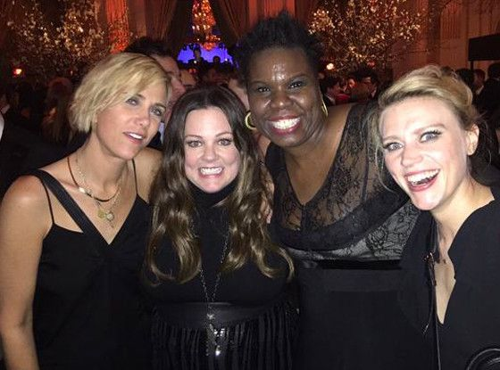 First Photo of the New Ghostbusters Cast Together: Kristen Wiig, Melissa McCarthy, Leslie Jones and Kate McKinnon Unite!  Kristen Wiig, Melissa McCarthy, Leslie Jones, Kate McKinnon, Ghostbusters, Twitter