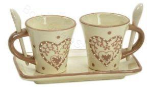 Tet a Tet caffè in ceramica decoro cuori