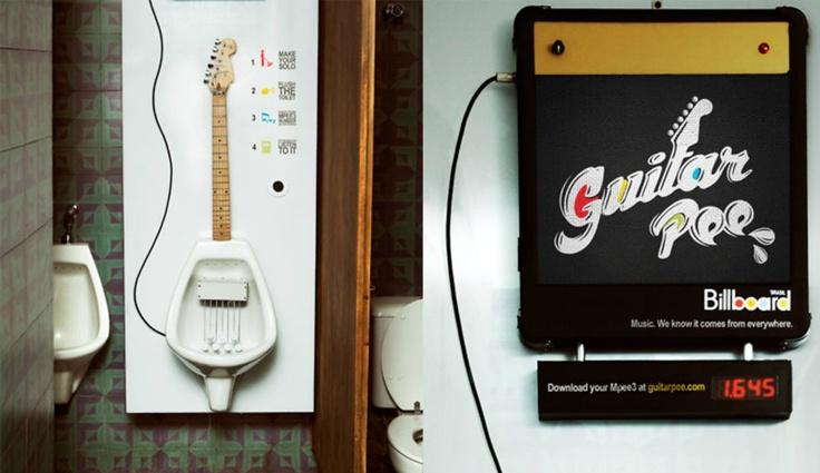 Crea música mientras orinas con el Guitar Pee (solo para chicos)