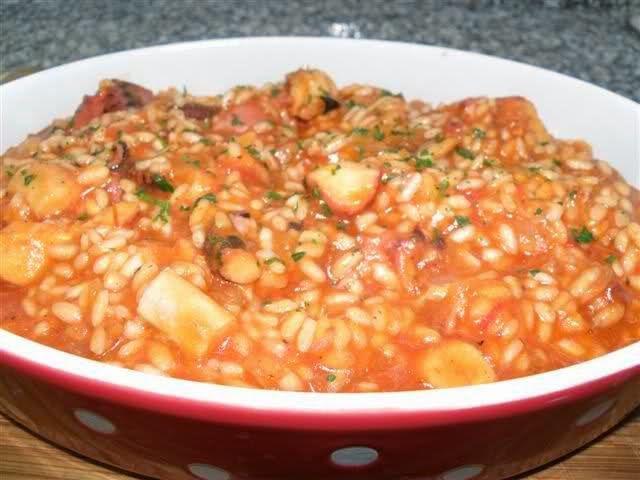 Varomeando risotto de pulpo thermomix arroces potajes guisos pinterest risotto and - Risotto tomate thermomix ...