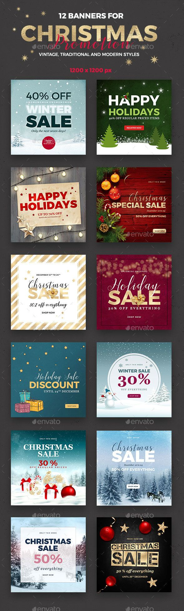 12 Christmas Banner - Social Media Web Elements box, bundle, business, celebration, christmas, clothes, color, cover, discounts, facebook, facebook cover, facebook fashion, image, image banner, instagram, link, link banner, New Year's Eve, offers, profile, retro, sales, season's greetings, shop online, social media, special price, timeline, timeline cover, web
