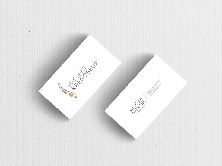 Przepis na Dizajn Wizytówka Projekt Kręgosłup 3