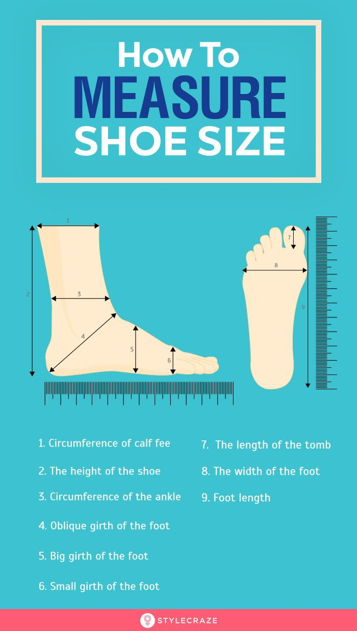 How To Measure Shoe Size A Guide With Sizing Chart Shoe Size Measurements Size Chart