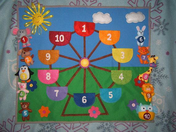 Developing Panel, Kindergarten toys, Flannel board, Playing panel, Preschool toys, Play Mat, Educational toys, Game for kids, Back to school