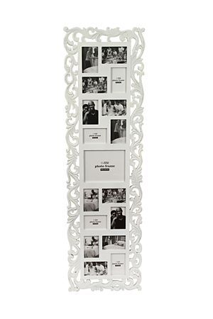 """This multi photo frame is a simple yet stylish way to accentuate your favourite photo memories. Displays 17 various sized photographs.<div class=""""pdpDescContent""""><BR /><b class=""""pdpDesc"""">Dimensions:</b><BR />L59xW1xH140 cm</div>"""