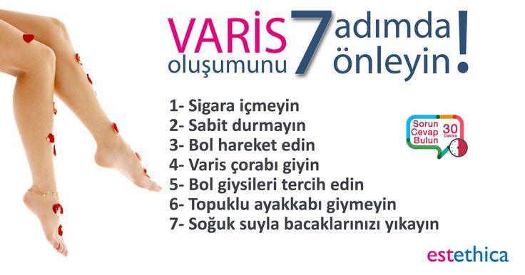 Doğal yöntemlerle kurtulamadığınız #varis rahatsızlığından Endovenöz #Radyofrekans ve #Lazer Ablasyon teknolojisi sayesinde kurtulabilirsiniz.  Varis tedavisi hakkında daha fazla bilgi almak için tıklayınız.   #Sağlık #Güzellik #estethica #istanbul #Ataşehir #Bakırköy #Levent #istinye #tedavi