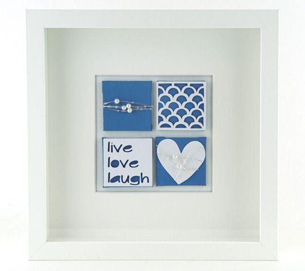 Bilderrahmen - Herz Dekoration Bild  - ein Designerstück von schoenes-von-Herzen bei DaWanda