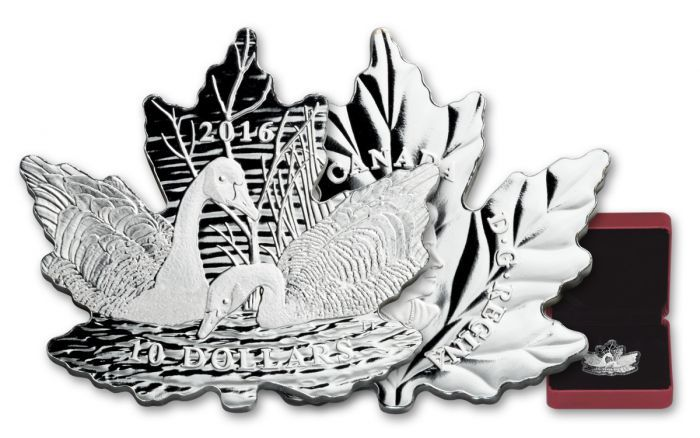 2016 Canada 10 Dollar Silver Maple Leaf Silhouette Geese Proof