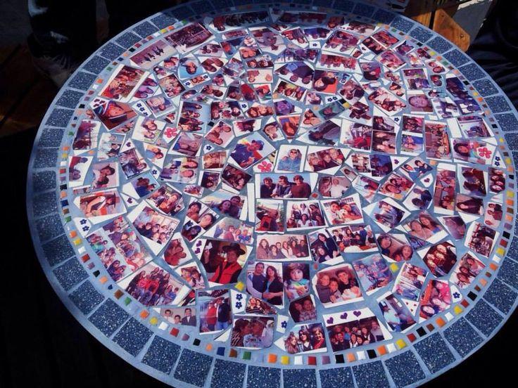"""Mesa hecha con mi padre querido... Con cerámicos para sublimar... """"La mesa de los recuerdos""""... Me encanta!..❤️"""